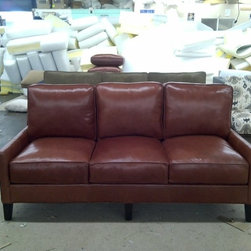 Trio Leather Sofa - Trio Sofa in Leather starting at $2295. Please visit www.TheSofaWorks.com or email us at thesofaworks@gmail.com for a custom quote.