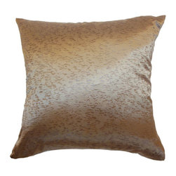 The Pillow Collection - Pamela Plain Pillow Copper - - Comes standard at 18 x 18  - Reversible pillow with same fabric on both sides  - Includes a hidden zipper for easy cover removal and cleaning  - Comes standard with a down pillow insert  - All four sides have a clean knife-edge finish  - Pillow insert is 19 x 19 to ensure a tight and generous fit  - Cover and insert made in the USA  - Spot cleaning recommended  - Fill Material: Down  - Pillow cover made of Cotton The Pillow Collection - P18-MVT-1094-COPPER-S50P50
