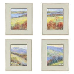 Paragon - Mountain View PK/4 - Framed Art - Each product is custom made upon order so there might be small variations from the picture displayed. No two pieces are exactly alike.