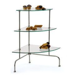 Go Home - Cosmetique Corner Stand - Cosmetique Corner Stand is made from nickel-plated brass, is perfect for nooks and crannies.Cover it with decadent cupcakes, scones, and cookies for a unique dessert display; dress it in beautiful flowers and plants; or decorate with beloved items. It has endless potential.