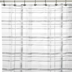 Ex-cell Home Fashions, Inc.,bath - Tartan Plaid PEVA 70-Inch x 72-Inch Shower Curtain - A modern twist on a traditional plaid design. This pattern is simple yet interesting enough to add some dimension to your bath space.