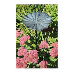 Achla - Small Lily Leaf II Bird Bath - Includes Roman bronze stake. 90 days warranty. Made from aluminum. Verdi finish. Made in India. No assembly required. 12.5 in. W x 11.5 in. D x 2.5 in. H (2 lbs.)This cast aluminum lily leaf birdbath is smaller, yet just as beautiful, as the original.