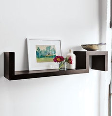 modern wall shelves by West Elm