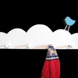 Cloud Coat Rack by Happywood Goods - Dreamy cloud shelves for a nursery.