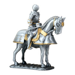 Summit - 3.75 Inch English Knight with A Stick On His Great Steed Figurine - This gorgeous 3.75 Inch English Knight with A Stick On His Great Steed Figurine has the finest details and highest quality you will find anywhere! 3.75 Inch English Knight with A Stick On His Great Steed Figurine is truly remarkable.