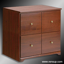 "Renovator's Supply - Cabinets Cherry Hardwood - This unit is crafted from solid hardwood and comes finished in Cherry. It measures 26-1/2"" high x 28-1/2"" wide x 19-1/2"" deep. Item# 149920"