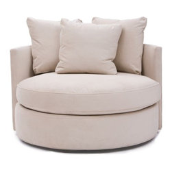 Betty Swivel Chair, View Oyster - http://www.highfashionhome.com/betty-swivel-chair--view-oyster.html