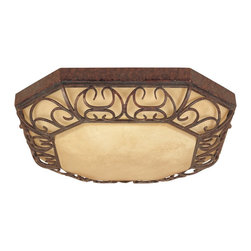 """Designers Fountain - Designers Fountain ES97522-BU Amherst Transitional Flush Mount Ceiling Light - Energy Star Decorative FluorescentClassic fluorescent fixtures are now available in decorative styling to add fashion to fixtures previously thought of as only """"industrial"""". This design is an extension of our most popular Amherst indoor and outdoor collection featuring intricately carved filigree details."""