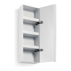 WS Bath Collections - Ciacole 8050.09 Cabinet Mirrored Door - Ciacole 8050.09 Cabinet with Mirrored Door in White