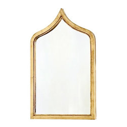 Worlds Away - Worlds Away Zanzibar Gold Leafed Mirror - Exotic and beautiful, this gold-leafed mirror will decorate your home like a palace or royal residence from a foreign land. Indian, Persian, Russian? You decide, but gazing at your reflection will take you worlds away.