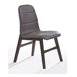 New Spec - Side Chair - Set of 2 - Set of 2. Dark brown high level PU material cushion and rubber wood on frame. 19.69 in. W x 23.43 in. D x 34.25 in. H (15 lbs)