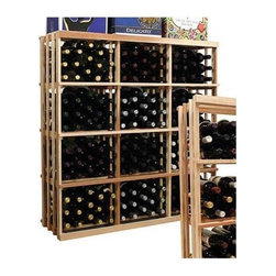 Wine Cellar Innovations - 4 ft. 3-Column Bin Wine Rack (Premium Redwood - Classic Mahogany Stain) - Choose Wood Type and Stain: Premium Redwood - Classic Mahogany StainBottle capacity: 180. Three column wine rack. Custom and organized look. Versatile wine racking. Stores wood cases, cardboard boxes and loose wine bottles with room for cardboard cases on top. Can accommodate just about any ceiling height. Optional base platform: 45.69 in. W x 13.38 in. D x 3.81 in. H (5 lbs.). Wine rack: 45.69 in. W x 13.5 in. D x 47.19 in. H (6 lbs.). Vintner collection. Made in USA. Warranty. Assembly Instructions. Rack should be attached to a wall to prevent wobble