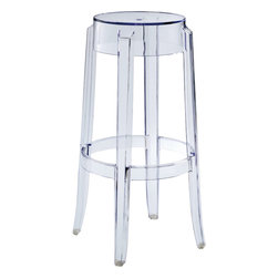Spirit Bar Stool - The Spirit Acrylic Barstool. The silhouette design of this stool is sure to be an attention-grabber at your next event. Constructed with transparent acrylic, this stunner suits every decor.