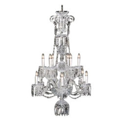 "Waterford Crystal - Waterford Crystal Ardmore Twelve Arm Chandelier 103396 - Waterford Ardmore Twelve Arm Chandelier  -  A magnificent ceiling fixture, the Ardmore Twelve Arm Chandelier incorporates twelve gleaming candelabras each cradling a half-globe of fine crystal intricately detailed with cuts from the Ardmore pattern. Accented by drapes of cut crystal droplets, this radiant fixture brings a stunning diffusion of light and color to any room in the home.  -  Don't Buy From An Unauthorized Dealer  -  Genuine Waterford Crystal  -  Size: 55"" H x 35"" W  -  Fully Authorized U.S.Waterford Crystal Dealer  -  Brand New In The Original Waterford Crystal Box  -  Each Piece Is Checked 4 Times To Ensure It Arrives In Perfect Condition  -  Stamped With The Waterford Seahorse Symbol Of Excellence  -  Waterford Crystal Chandeliers Collection  -  Waterford Crystal UPC Number: 024258264717"