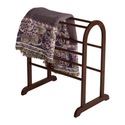 Winsome Wood - Winsome Wood Quilt Rack - With six rungs, this charming quilt rack has room to neatly display all of the quilts and blankets currently cluttering your living room. Free standing, the convenient and discrete organizer can be positioned anywhere in the room. Quilt Rack (1)