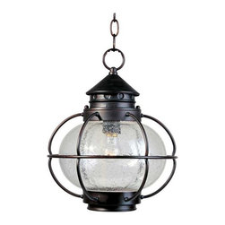 Maxim Lighting - Maxim Portsmouth 1-Light Outdoor Hanging Lantern Bronze - 30506CDOI - Portsmouth is a traditional, early American style collection from Maxim Lighting Interior in Oil Rubbed Bronze finish with Seedy glass.