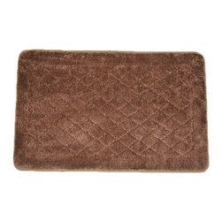 EverRouge - Solid Brown Memory Foam  20 x 32 Bath Mat - Use this brown memory foam rug to help create a luxurious feel in your bathroom. The solid color carpet, which looks great next to the tub, features high-density foam construction and a skid-resistant back that helps to guard against accidental injury.