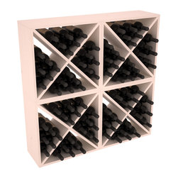 "Wine Racks America - 96 Bottle Wine Cube Collection in Ponderosa Pine, White Wash Stain + Satin Finis - Perfect for moderate storage requirements and converting that ""underneath"" space into wine storage. Mix and match finishes to show your true wine-lover's spirit or experiment for a modern wine rack twist."
