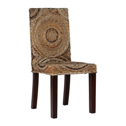 """Ibolili - Circles Banana Leaf Side Chair - Features: -Material: Banana Leaf. -Finish: Natural. Dimensions: -38"""" H x 18"""" W x 18"""" D, 30 lbs."""