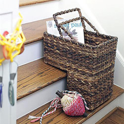 A Step Beyond Basket - If your house is multi-level, you know what a pain it can be to hustle things up and down the stairs all day. Give yourself a break and add some interesting texture with this clever stair basket. A unique cutaway gives it the perfect width for big loads, complemented by the deep hue of the woven bacbac leaf construction.