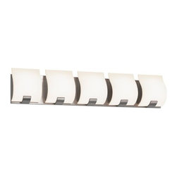 Sonneman Lighting - Sonneman Lighting 3885.13LED Aquo Aquo 5-Light LED Bath Bar - Sonneman Lighting 3885.13LED Aquo Aquo 5-Light LED Bath Bar