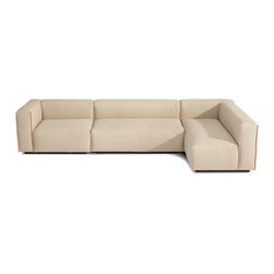 """Blu Dot - """"Blu Dot Cleon Medium+ Sectional Sofa, Stone"""" - Have a seat on this stone-colored sectional and sink into comfort. You get a sofa, two ottomans and three arms in a modular shape that make customizing your seating arrangement a snap. And thanks to its clean and versatile design, it'd look right at home in any contemporary or modern living area."""