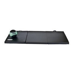 TKO Folding Exercise Mat - 2 x 6 ft. - Convenient and comfortable exercise areaFull 2-inch thick high-density polyurethane foam padding for maximum comfortHeavy-gauge 14-oz. vinyl cover cleans easily with a damp clothHeavy nylon stitching with inverted seamsFolds for storage; carry handles for easy portabilityMat Dimensions: 72L x 24W x 2H inchesManufacturer's warranty included - see complete details in the Product Guarantee area.About TKOTKO's mission is to manufacture and design innovative fitness and boxing equipment to promote wellness and a healthy lifestyle. Founded in 1996 TKO has become a leading provider of products for elite boxing events including the National Golden Gloves competition and the International Female Boxing Association. TKO is committed to bringing you fitness products that will provide you years of value and enjoyment.