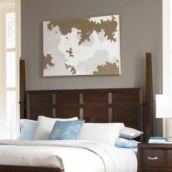 Broyhill� - East Lake 2 Poster Headboard - Create a designer look in your modern bedroom with the dramatic East Lake 2 Panel Bed. The high headboard and linear woodwork have a fresh contemporary look. Features: -Distressed: No.-Gloss Finish: No.-Powder Coated Finish: No.-Non Toxic: No.-Scratch Resistant: No.-Adjustable Height: No.-Nailhead Trim: No.-Lighting Included: No.-Wall Mounted: No.-Reversible: No.-Media Outlet Hole: No.-Built In Outlets: No.-Hidden Storage: No.-Freestanding: No.-Frame Required: Yes.-Frame Included: No.-Swatch Available: No.-Product Care: Never allow water or damp items to sit on your headboard including cleaning cloths, sponges, etc. Never allow alcohol-based products including some cleaners, nail polish and perfumes to come in contact with the wood. They can dissolve the furniture finish on contact, requiring professional repairs. Chemicals in plastic may soften and injure the finish if exposed over a long period of time. Avoid placing hot objects on any furniture surface. Prolonged exposure to direct sunlight can fade the finish, while extreme temperature and humidity changes can cause cracking or splitting. Dust frequently with a clean, damp lint-free cloth to remove abrasive buildup which can damage the finish over time. Occasionally polish with a high-quality non-silicone furniture polish every few months to enhance the beauty of the multi-step finish. Spray the polish onto a clean cotton cloth, apply it to the furniture, and then buff with a second clean, dry cotton cloth. Note that any polish may make a low sheen finish appear more glossy. Avoid oily polishes and waxes. Remove sticky accumulations of skin oils to avoid professional repairs. Wipe the area with a clean cotton cloth dampened with mineral spirits, then buff with a second clean cotton cloth. Touch up small marks and scratches with a marker, scratch remover, or touch-up stick. These can be purchased at any paint store..-Recycled Content: No.Specifications: -Green Guard Cert