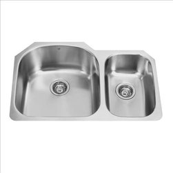 Vigo - VIGO VG3121L Double Bowl Sink - The VIGO double bowl kitchen sink will complement any decor and is highly functional. Every design detail is featured in this sink to meet your needs.