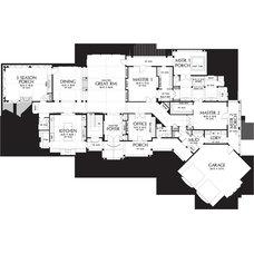 Traditional Floor Plan his-hers vanity floorplan