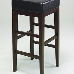 None - Metro 30-inch Square Bar Stool - Design Metro barstool is perfect addition to your home decor Furnishing constructed from solid wood and padded vinyl Stool features faux leather in espresso