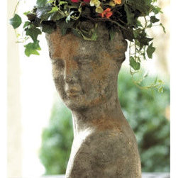 Terra Cotta Lady Planter - This lovely planter will add both whimsy and the beauty of sculpture to your garden.  She will age gracefully like a fine wine as she naturally becomes covered in moss with the passage of time.