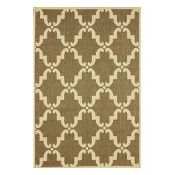 nuLOOM - nuLOOM Modern Indoor/ Outdoor Moroccan Trellis Taupe Rug, (5.3' X 7.9') - Material: 100% Polypropylene