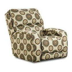 """Southern Motion - Southern Motion - Fandango Rocker Recliner - Water-fall back, Charles of London inspired arm and a padded chaise capture the comfort that is """"Fandango """". The crisp tailoring and clean styling wrap livable comfort into sophisticated styling that makes the Freddy a perfect fit for all homescapes."""