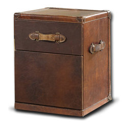 Curations Limited - Vintage Leather Trunk -