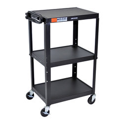 Luxor - Luxor Av Cart - AVJ42 - The Luxor AVJ42 series are excellent multipurpose AV/utility carts.