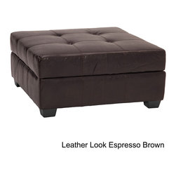 EpicFurnishings - Vanderbilt 36-inch Square Hinged Storage Bench/ Ottoman - Easy-to-clean and comfortable, this furniture is extra seating, an ottoman, and a convenient storage space. Four attractive color options highlight this versatile accent piece.