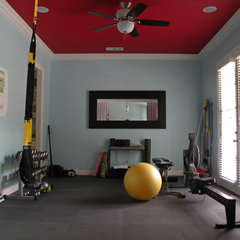 traditional home gym by Sarah Greenman