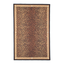 Safavieh - Safavieh Hand-hooked Chelsea Leopard Brown Wool Rug (3'9 x 5'9) - This elegant wood conference table is the perfect addition when adding style to any home or office. This sophisticated boat-shaped table stretches 71 inches and the solid wood makes this conference table incredibly sturdy and long lasting.