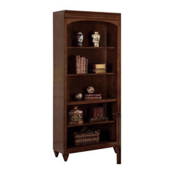 Wynwood - Wynwood Westhaven Bunching Bookcase in Dried Fig Cherry - Wynwood - Bookcases - 128307 - A classy transitional design with framed panels squared tapered feet aged knob hardware Westhaven offers timeless style. Carefully selected cherry veneers showcase the elegant Dried Fig Cherry finish that makes Westhaven a real classic.