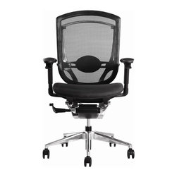 Lemoderno - Fine Mod Imports  Ergo Fit Highly Adjustable Mesh Office Chair, Black - The Ergo Fit Office Chair is a Highly ergonomic and a sustainable design chair, Ergo Fit is a fully featured ergonomic chair and comes with all the features that a office chair should come with its extremely sitter-friendly and versatile in fulfilling numerous roles throughout the office. Unique Mesh Seat and Back Tilt Lock Controlled Under the Arms, Height Adjustment Controlled Under the Arms Tilt Tension, Adjustable Lumbar Support Adjustable Arms, Adjustable Seat Depth Assembly Required