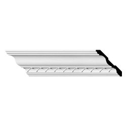 "Ekena Millwork - 4 1/4""H x 4 1/4""P x 6 1/8""F x 94 1/2""L, (1 5/8"" Repeat), Charlotte Crown Mouldin - Beautiful crown moulding is a great way to separate and define each room. With each design modeled after traditional plaster type mouldings, our lightweight polyurethane mouldings give the same rich detail, yet at a fraction of the cost. Most moulding profiles can be partnered with our do-it-yourself corner blocks that means no miter cutting for you, and most rooms can be completed in ours instead of days. Another benefit of polyurethane is it will not rot or crack, and is impervious to insect manifestations. It comes to you factory primed and ready for your paint, faux finish, gel stain, marbleizing and more."