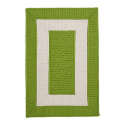 Indoor/Outdoor Rope Walk, Bright Green Rug, Sample Swatch