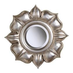 Sterling Industries - Sterling Industries 6050468 Lotus In Bright Silver Leaf - Mirror (1)