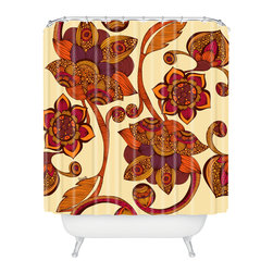 DENY Designs - Valentina Ramos Boho Flowers Shower Curtain - Who says bathrooms can't be fun? To get the most bang for your buck, start with an artistic, inventive shower curtain. We've got endless options that will really make your bathroom pop. Heck, your guests may start spending a little extra time in there because of it!
