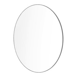 Sabi - Wall Mirror, Diameter 45cm, Gray - Mirror makes transforming your bathroom style uncomplicated, with an easy-install singular wall mount.