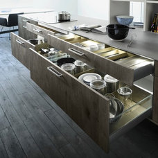 contemporary kitchen cabinets by Belle Kitchen design | build
