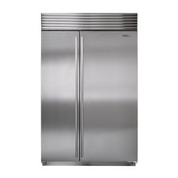 "Sub-Zero 48"" Side-by-Side Refrigerator/Freezer - The Sub-Zero refrigerator/freezer features dual refrigeration plus state-of-the-art water filtration and air purification systems."