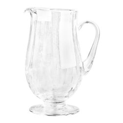 Casafina - Large Pitcher, Optic - Handblown glass made in Romania