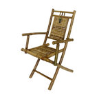 """Master Garden Products - Bamboo Folding Arm Chair, Set of Two Pieces, 22""""W x 24""""D x 37""""H - Our foldable bamboo chairs with arm rest are constructed with Tam Vong solid bamboo. They are structurally stronger than the other bamboo chair. Our bamboo chair is the most compact in the market,  it will fold down 30"""" x 38"""". The ultra compact design allows you to store them away easily when not in use."""